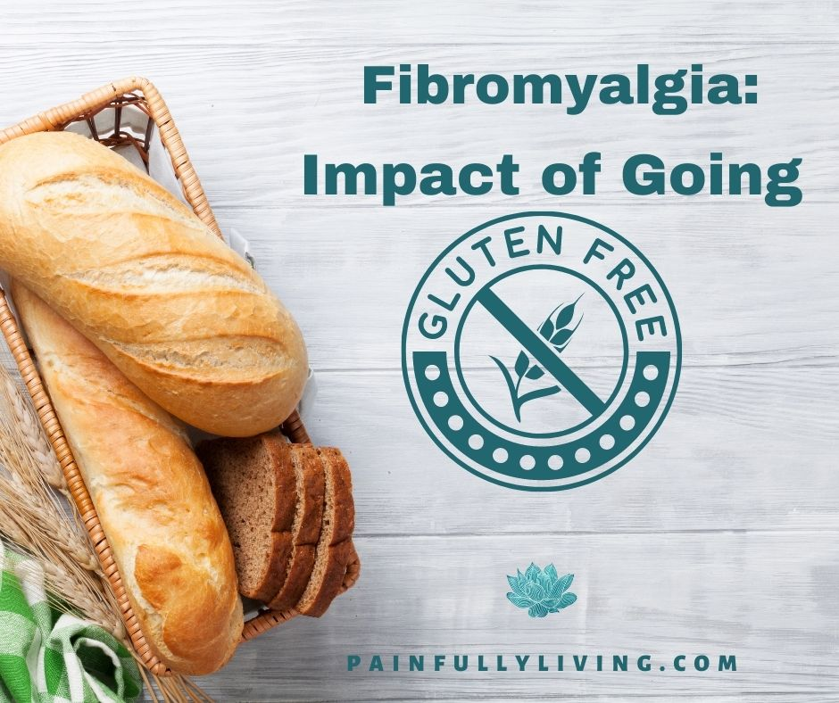A white-washed wood plank background with whole loaves of bread, stems of dried wheat, and a checkered green and white cloth in the lower left corner.  Offset to the right is the title text with a graphic containing the words GLUTEN FREE in a circle and a wheat steam in the middle with a slash line over it.